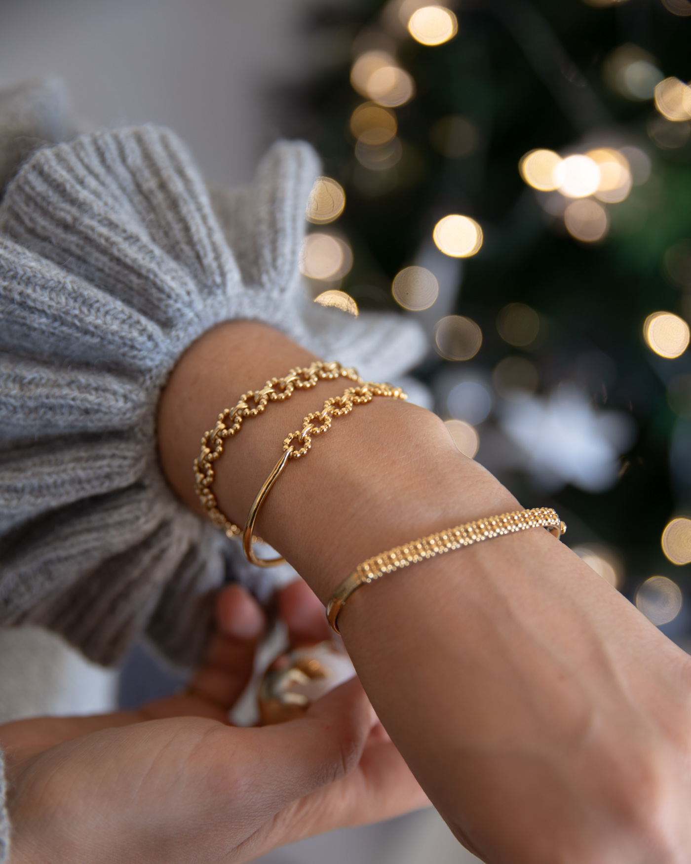 gold bangles from Astley Clarke