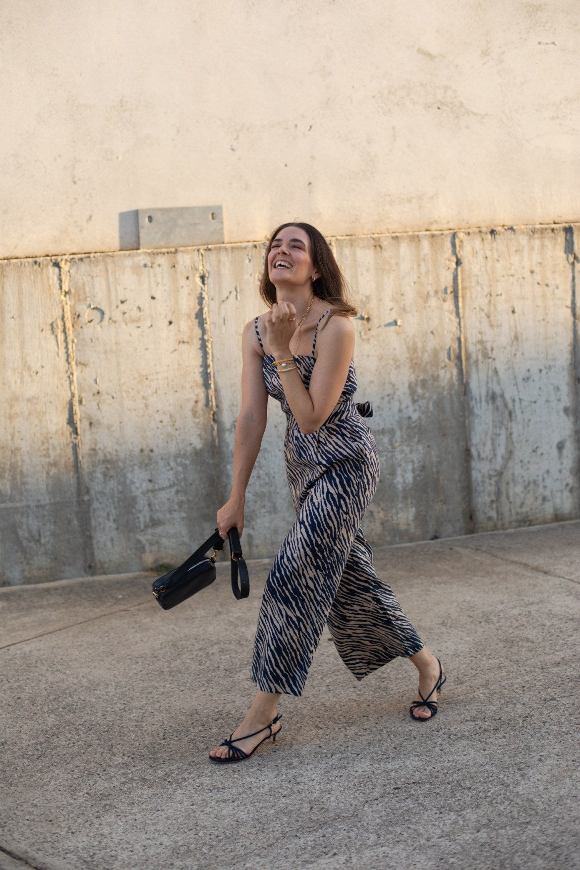 Boden garden party outfit or at-home outfit with zebra print