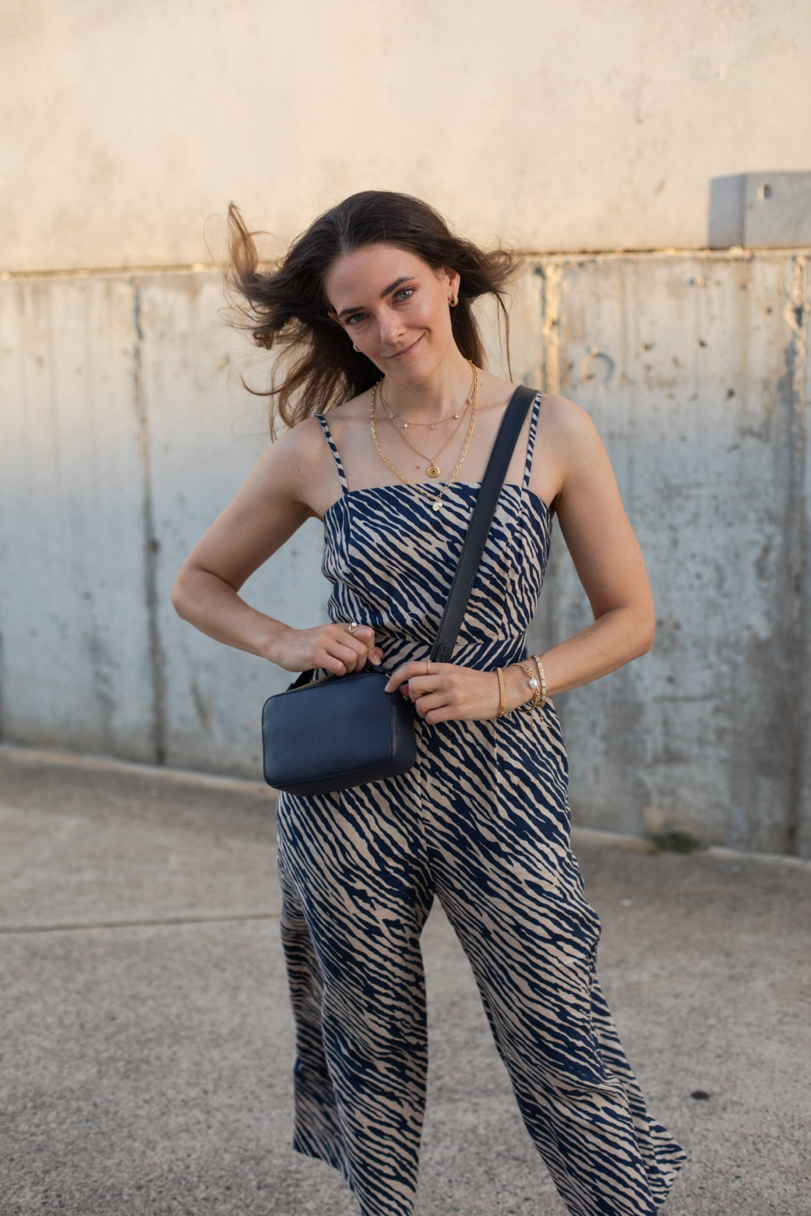 Boden outfit with zebra print