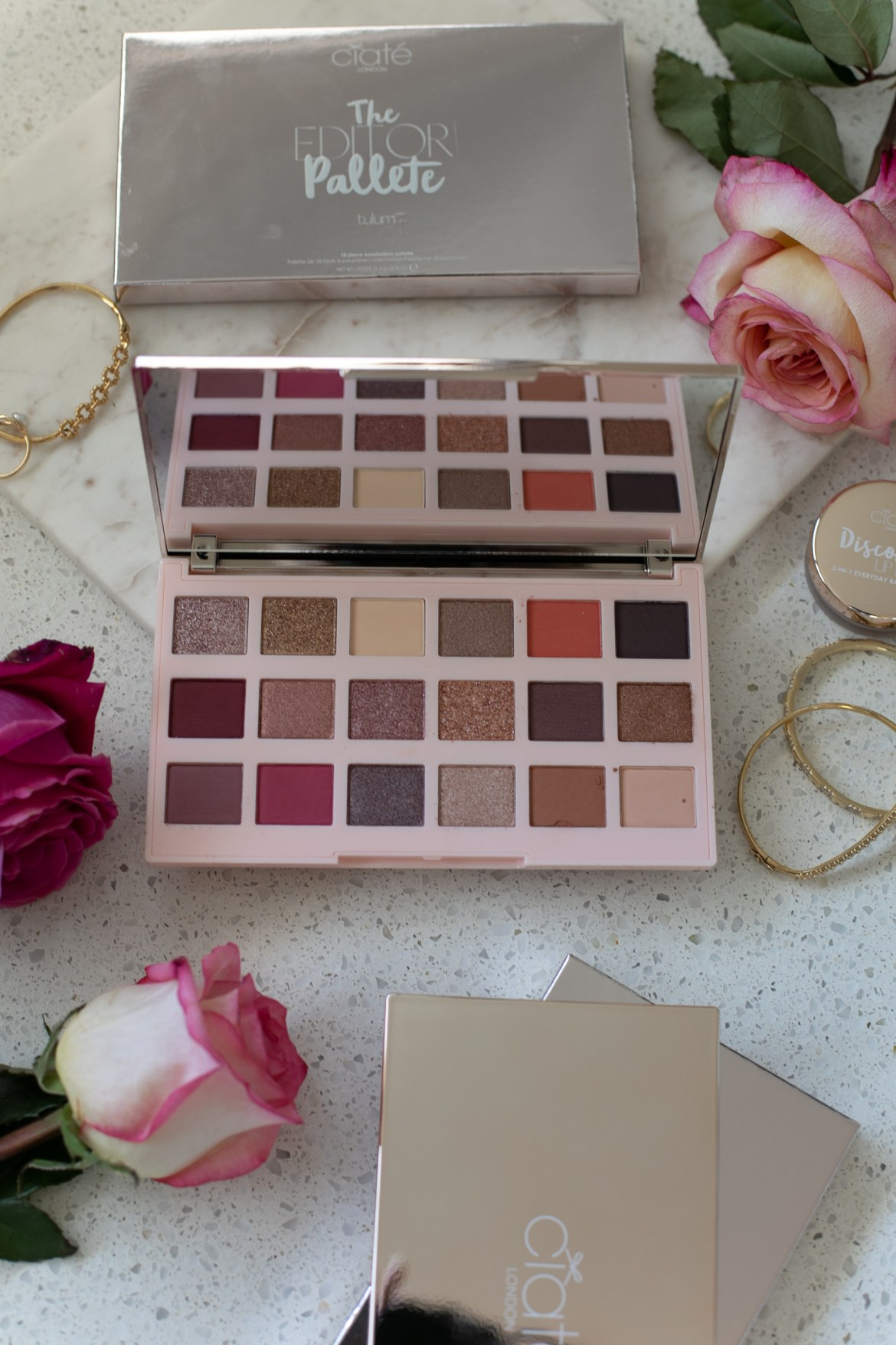 Ciate London The Editor Palette in Tulum for a casual beauty look for Valentine's day