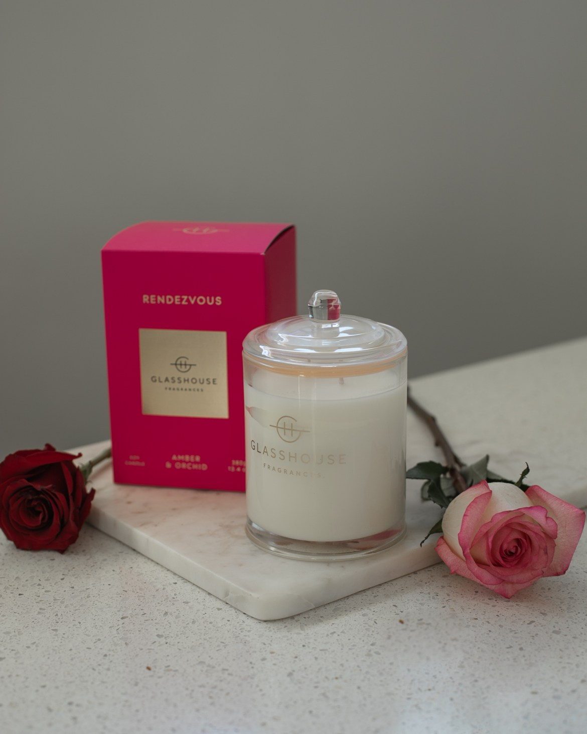 Glasshouse candle for Valentine's Day