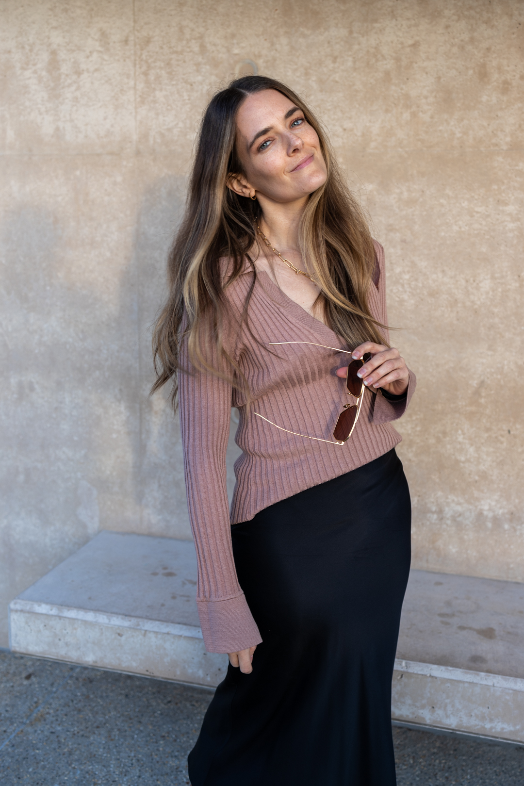 Revolve outfit idea with Song of Style sweater