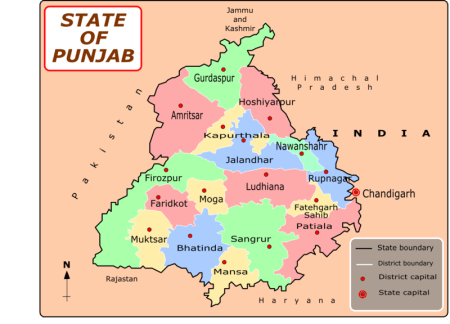 Hoshiarpur in Punjab state, India