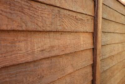 Foto cierro imitación madera