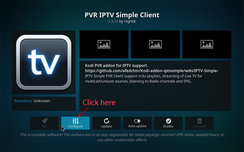 Installeer IPTV op Kodi - stap 4