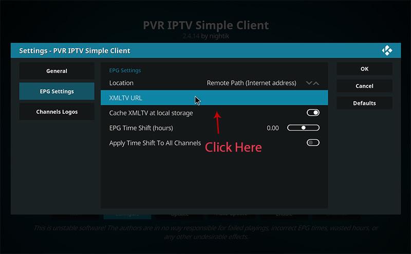 Installeer IPTV op Kodi - stap 8