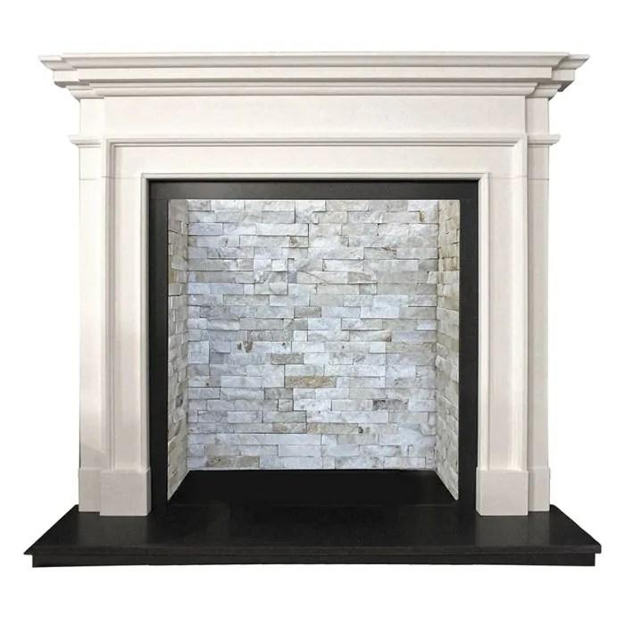 arnside agean limestone fireplace mantel