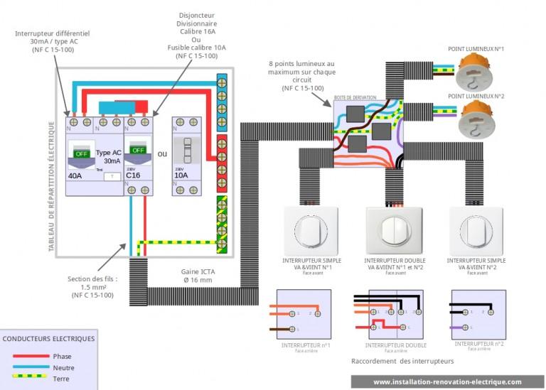 Le Va Et Vient Schema Electrique Cablage Branchement