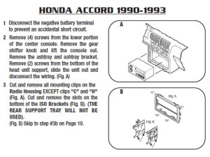 1993HONDAACCORDinstallation instructions