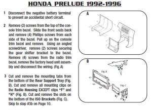 1993HONDAPRELUDEinstallation instructions