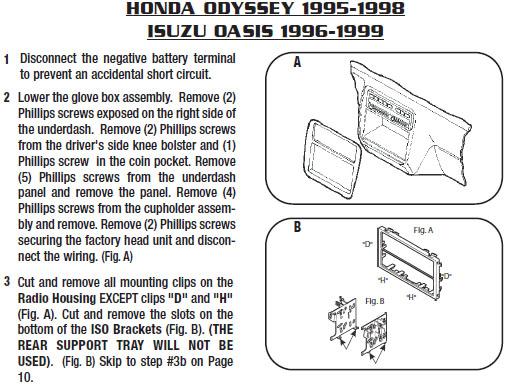 1995 Honda Accord Lx Radio Wiring
