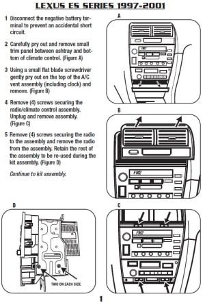 1997LEXUSES300installation instructions