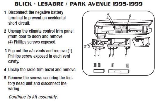 diagram 1997 buick park avenue radio wiring diagram full