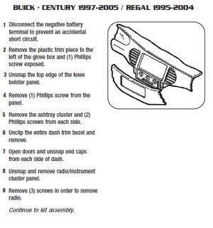1999BUICKREGALinstallation instructions