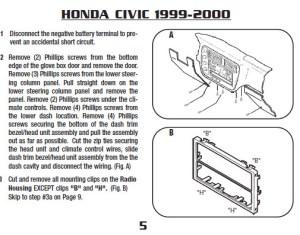 1999HONDACIVICinstallation instructions