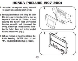 1999HONDAPRELUDEinstallation instructions