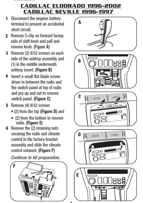 1996 Cadillac Deville Parts Diagram