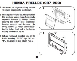 2001HONDAPRELUDEinstallation instructions