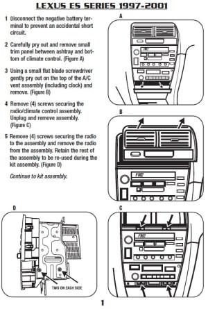 2001LEXUSES300installation instructions