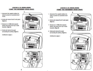 2002FORDTHUNDERBIRDinstallation instructions