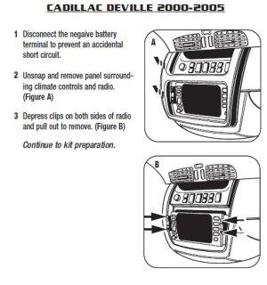 2003CADILLACDEVILLEinstallation instructions