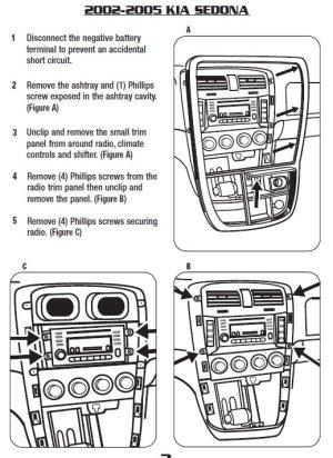 2003KIASEDONAinstallation instructions