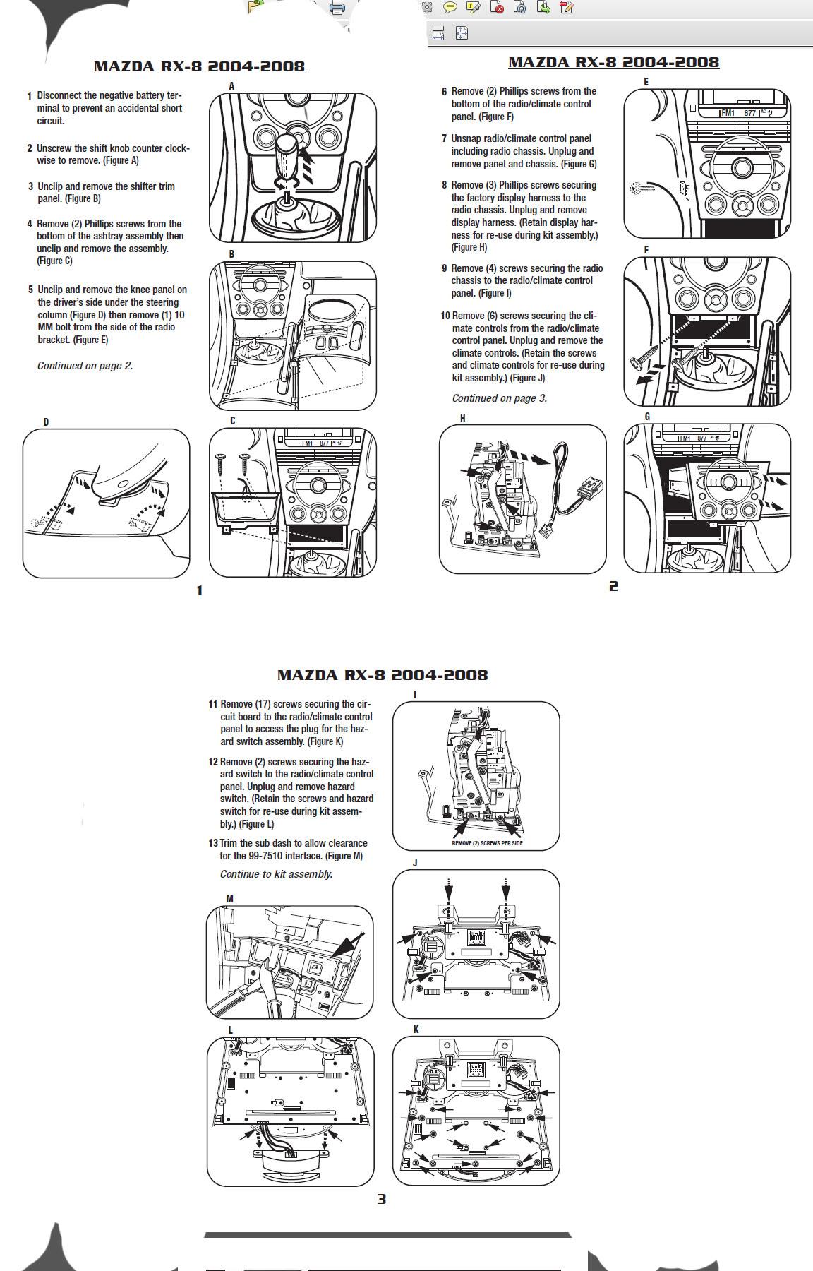 Mazda 3installation Instructions