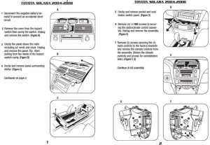 2004TOYOTASOLARAinstallation instructions