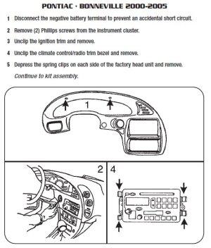 2005PONTIACBONNEVILLEinstallation instructions