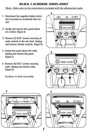 2006BUICKLACROSSEinstallation instructions
