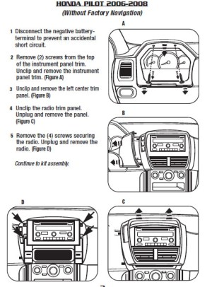 2007HONDAPILOTinstallation instructions