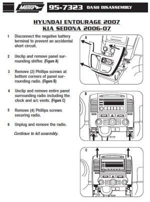 2007HYUNDAIENTOURAGEinstallation instructions