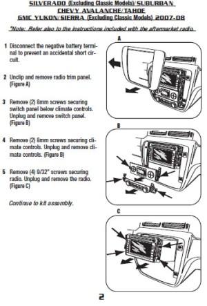 2008CHEVROLETSUBURBANinstallation instructions
