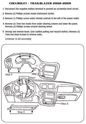 2008CHEVROLETTRAILBLAZERinstallation instructions