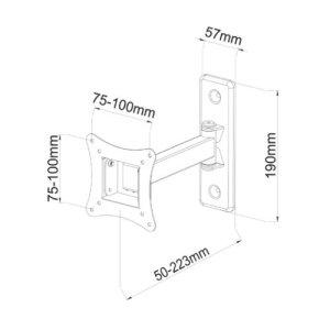 SU1330/10 - Supporto TV orientabile da parete