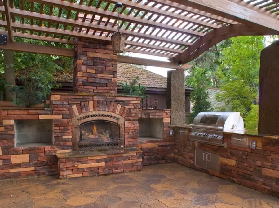 45 Beautiful Outdoor Fireplace Ideas   Install-It-Direct on Small Outdoor Fireplace Ideas id=65014