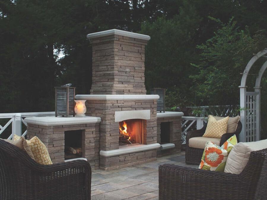 45 Beautiful Outdoor Fireplace Ideas   Install-It-Direct on Small Outdoor Fireplace Ideas id=54584