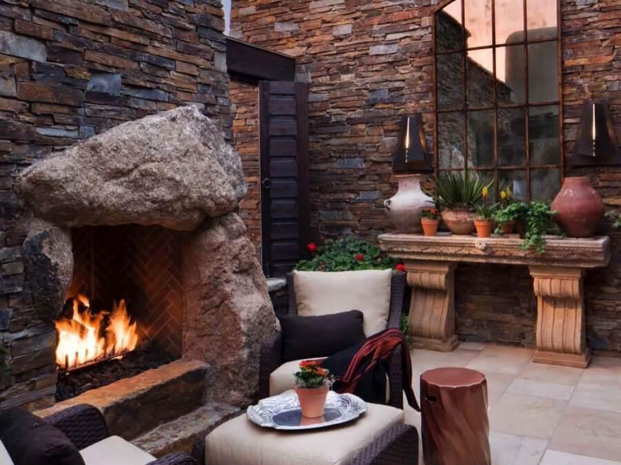 45 Beautiful Outdoor Fireplace Ideas   Install-It-Direct on Small Outdoor Fireplace Ideas id=15309