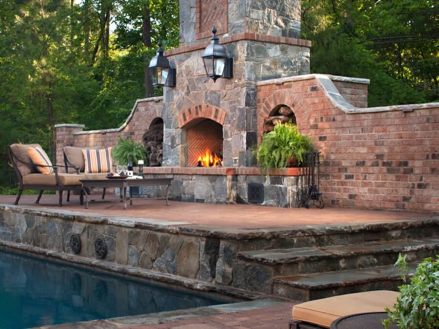 45 Beautiful Outdoor Fireplace Ideas | Install-It-Direct on Outdoor Fireplaces Ideas  id=87806