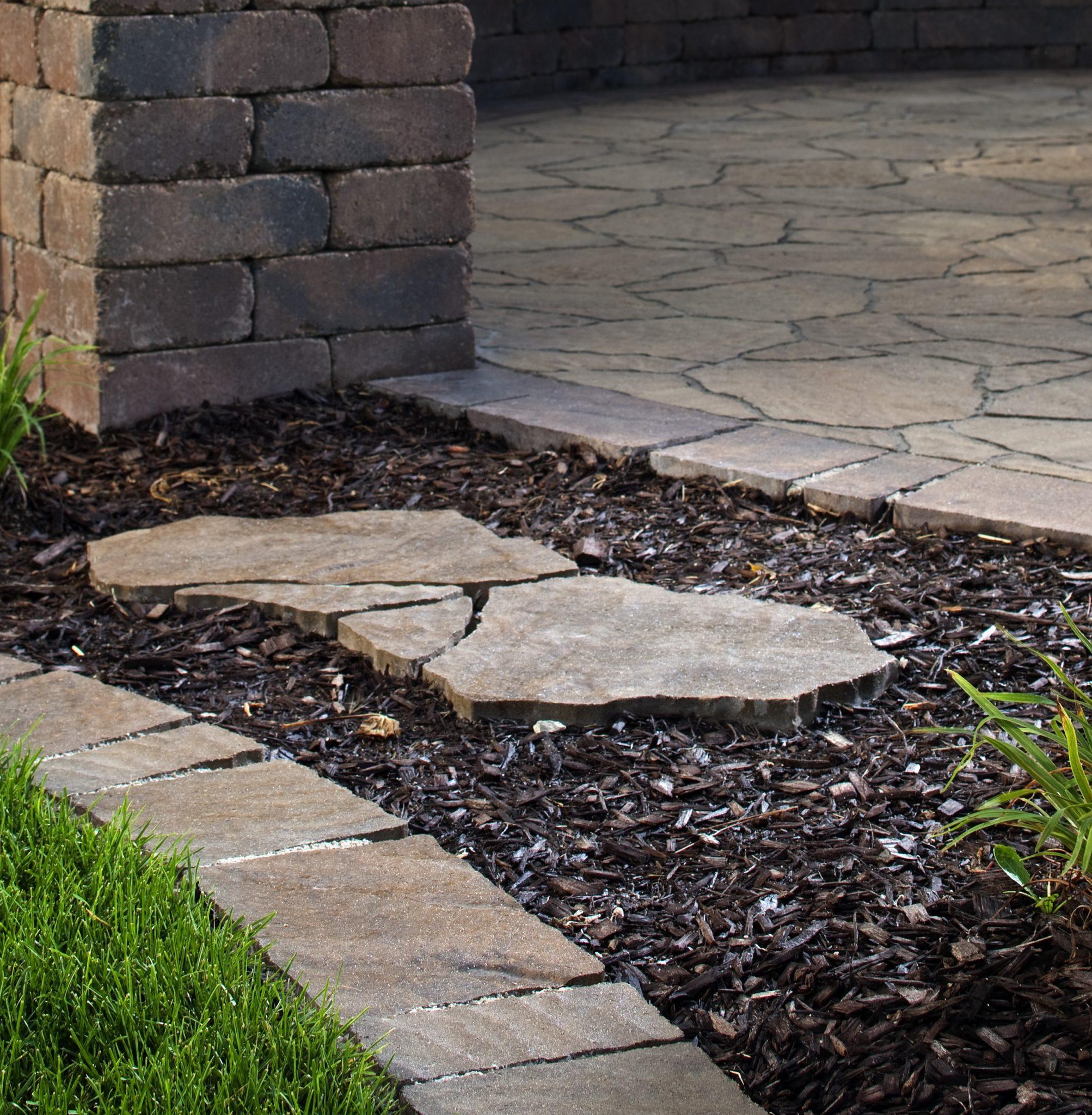 Stone Pathways: Stepping Stone Walkway Ideas + Designs ... on Stepping Stone Patio Ideas  id=43522