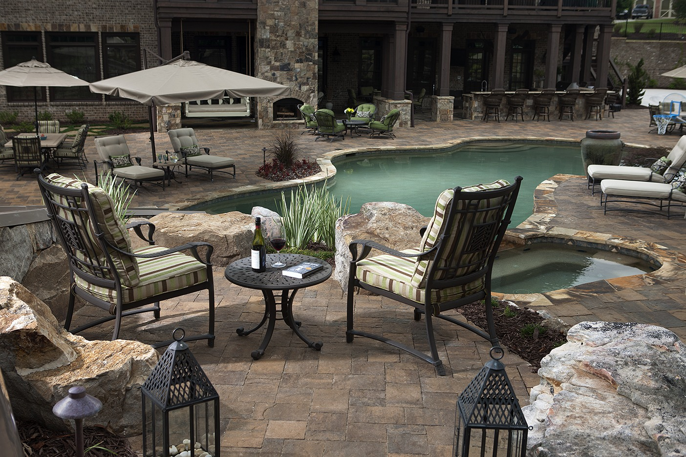 How to Landscape Around an Inground Pool   INSTALL-IT-DIRECT on Patio Ideas Around Pool id=88860