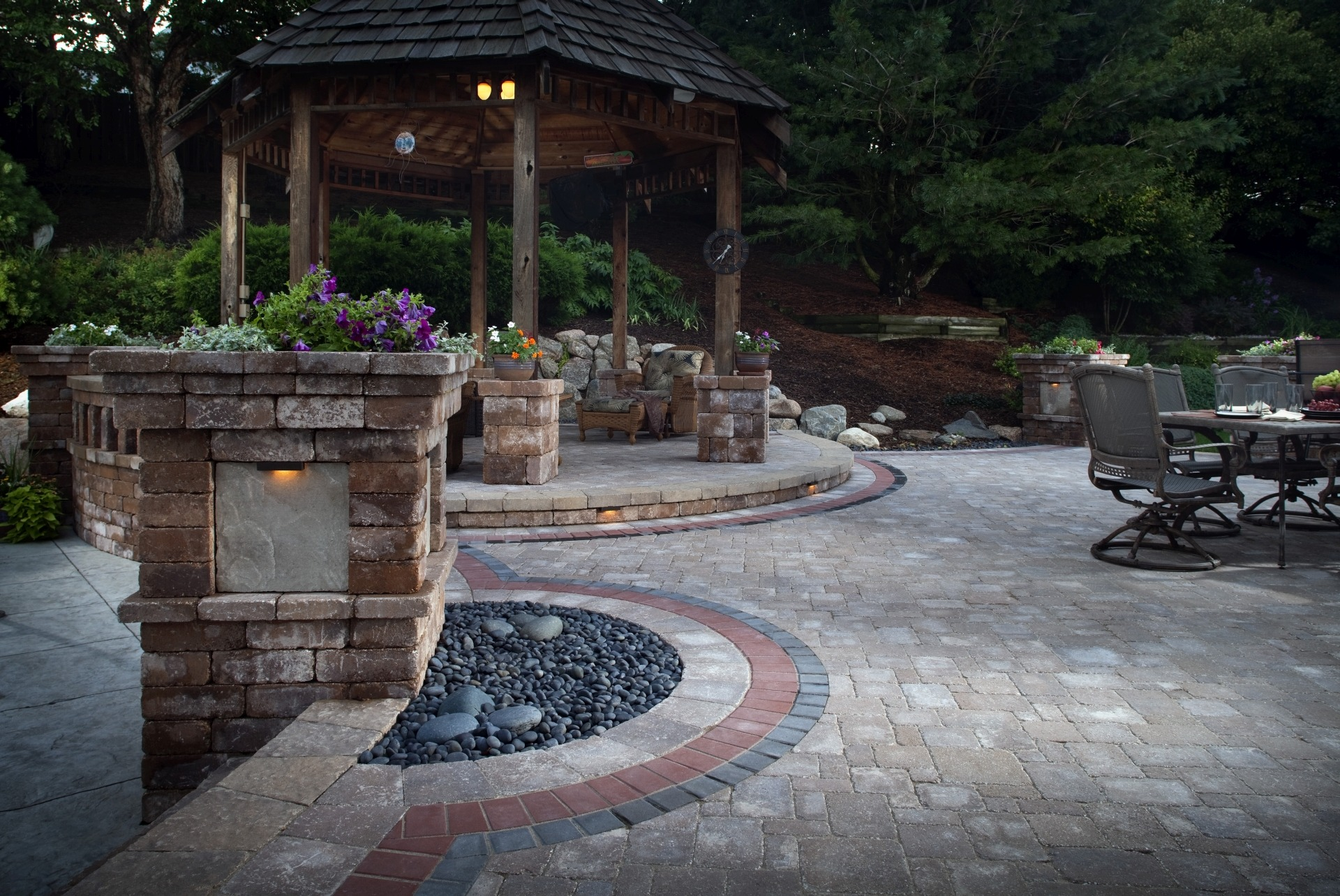 Create a Park-Like Landscape Using Artificial Grass ... on Backyard Pavers And Grass Ideas id=21379