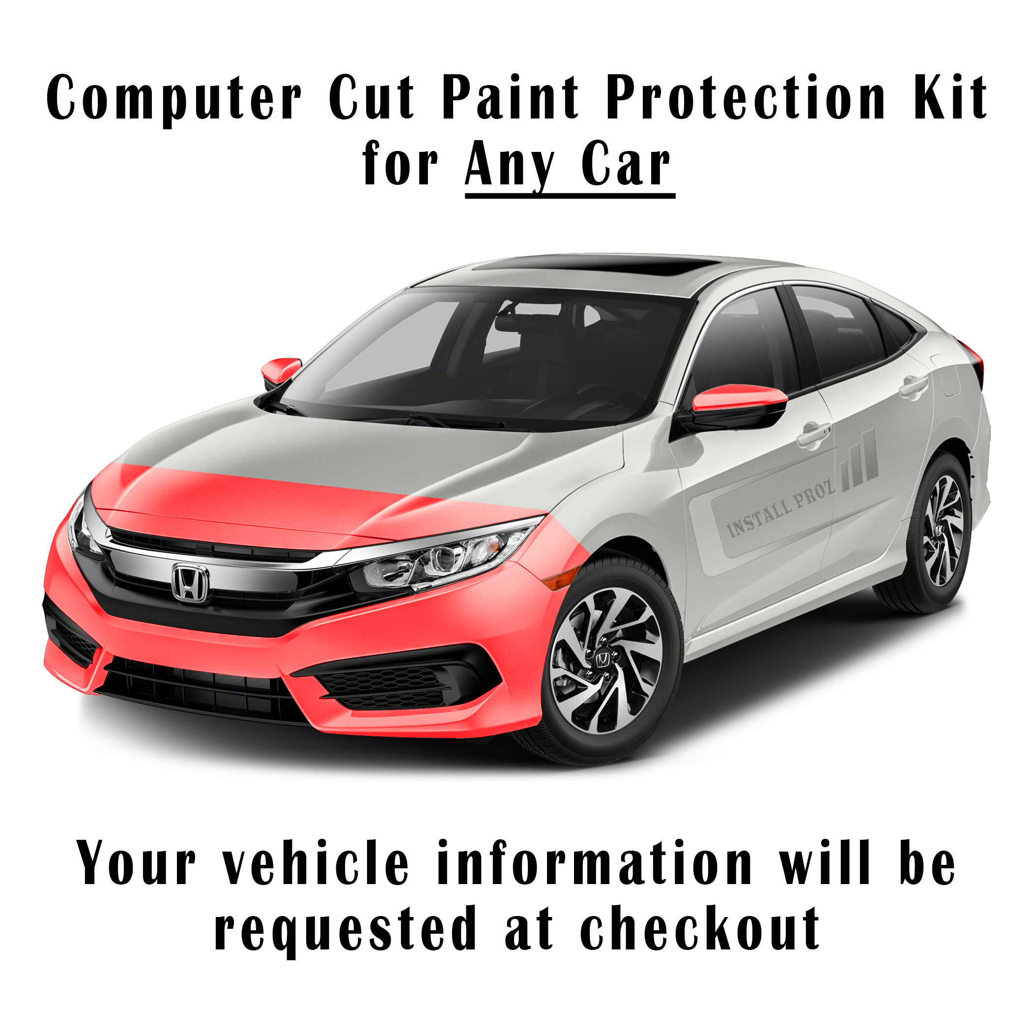 Paint Protection Film >> Self Healing Clear Paint Protection Film Kit Computer Cut For Any Car Hood Fenders Mirrors Bumper