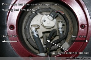 InstallUniversity: Mercedes Benz C Class W203 Fuel Level Sensor and Fuel Pump Replacement