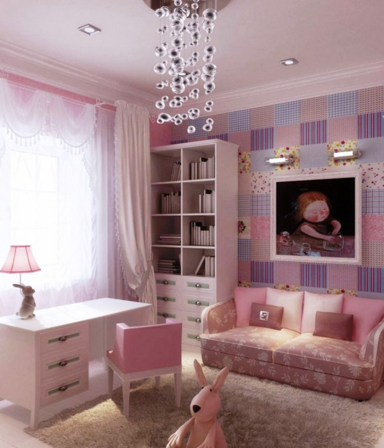 25 Beautiful Girls Bedroom Ideas For Your Little Angel ... on Beautiful Room Design For Girl  id=58042