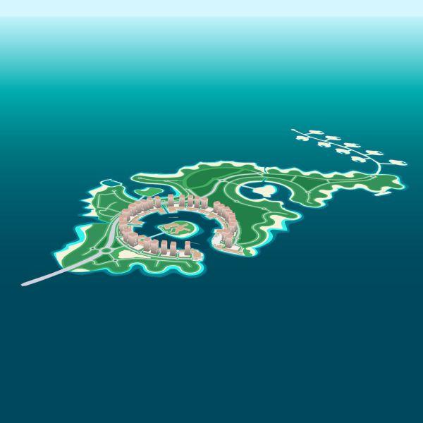 Pearl, Qatar is an artificial island