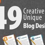 49 Creative And Unique Blog Designs