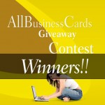 AllBusinessCards Giveaway Contest – Winners!