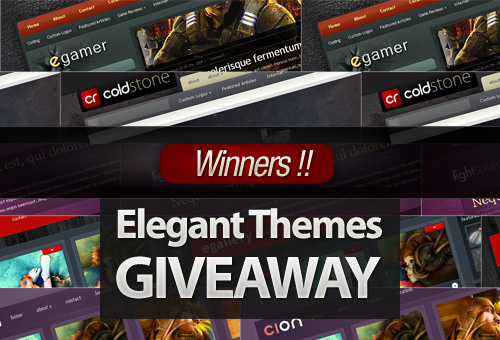 Comment and Win a Free Membership to Elegant Themes! – Winners!