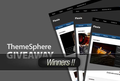 Flexis Theme from ThemeSphere Giveaway – Winners!
